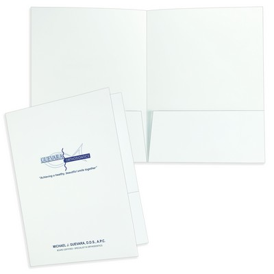 "Quick Ship Economy Printed Folder (9""x12"") printed with one spot PMS ink color"