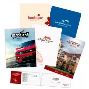 Popular Choice Full Color Printed Presentation Folder (4 Color Process)